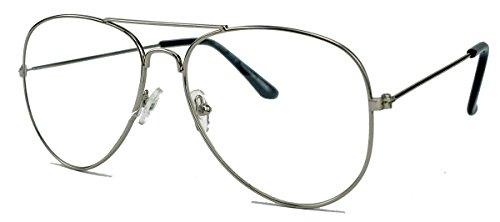 Klassische Pilotenbrille für Damen o Herren Nerdbrille 80er Jahre Brillengestell Klarglas AVN...
