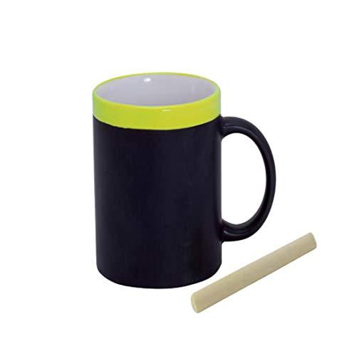GÁRGOLA Lote de 18 Tazas Cafe o te Pizarra de cerámica desayunos Divertidos. Tazas Originales para Colorear con tizas incluídas para Escribir Frases