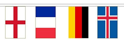 2018 Coupe du monde de football 32 Nations Guirlande fanions – 9.9 m de long avec 32 drapeaux