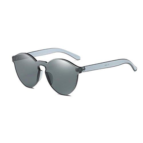 Gafas de Sol Polarizadas Aviador Unisex, Sannysis gafas de sol mujer de ojo de gato de moda Integrated UV Gafas de colores dulces para Conducción Pesca Esquiar Golf Aire Libre (Negro)