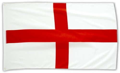 MM England Flagge/Fahne, wetterfest, mehrfarbig, 150 x 90 x 1 cm, 16283 (Alle Sport-fußball)