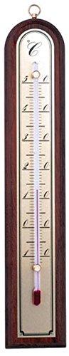 Innen Zimmer-Thermometer Anzeige von -10°C bis + 50°C Analog (Holz Innen Thermometer)