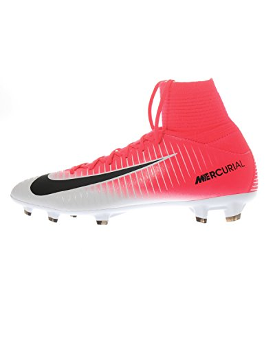 Nike Kids Mercurial Superfly V Fg Racer Pink/Black/White Soccer Shoes Pink/Black/White