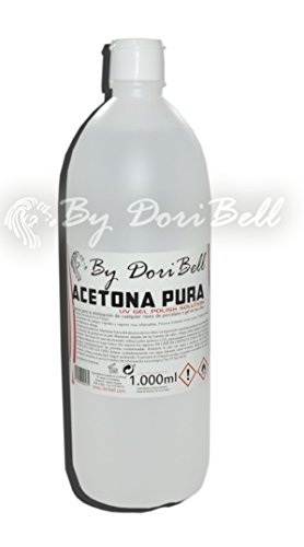 Acetona Pura 1 Litro, especial desmaquillado esmaltado en gel permanente.
