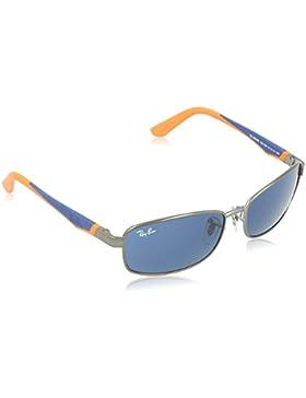 RAYBAN JUNIOR 0RJ9533S 241/80, Gafas de Sol Unisex Niños, Gris (Gunmetal/Bluee), 51
