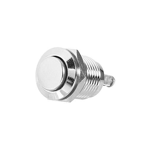 Pulsante momentaneo, interruttore pulsante di avvio a pulsante in metallo impermeabile a 12 V DC 12 V 2A 12 mm