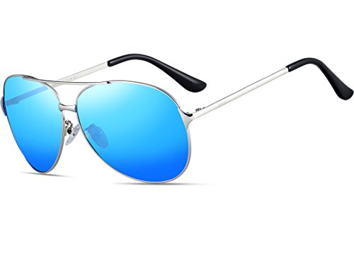 Price comparison product image ATTCL Men's Hot Classic Aviator Polarized Sunglasses For Golf Driving 8009 Blue