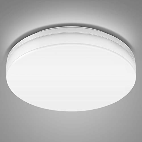 LE 24W LED Ceiling Light, Waterproof IP54, 2 x 100W Incandescent Bulb Equivalent, 33cm, Flush Mount Lighting for Bathroom, Bedroom, Kitchen, Hallway and More (Daylight White, Non-dimmable)