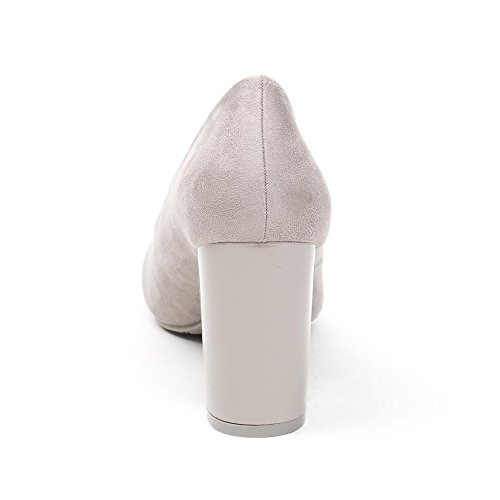 à Ideal BI Shoes Escarpins Carré Talon Moisa Gris Matière wrqrIxCcP