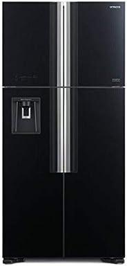 Hitachi 760 L French Door Refrigerator With Water Dispenser, Glass Black/ RW760PUK7GBK, 1 Year Warranty