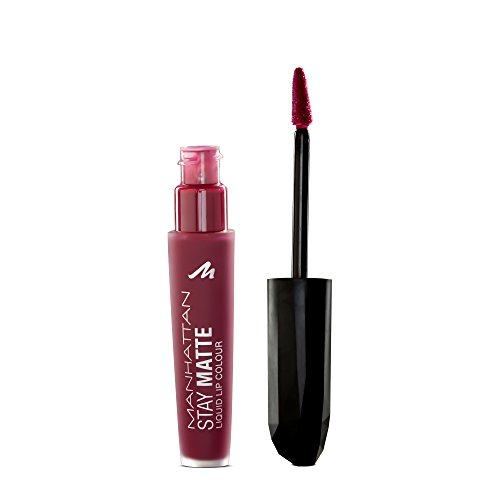 Manhattan Stay Matte Liquid Lip Colour, Farbe 600 Statue of Burgundy (dunkelrot)