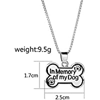 ZFFde Letra Inglesa Dog Tag Pendant Bone Shaped Dog Tag Necklace (Plata) para tu Gato Love Pet