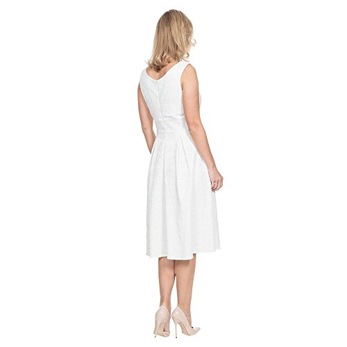 Voodoo Vixen Monroe Kleid (Weiß) Weiß