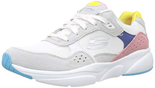 Skechers Damen Meridian-no Worries Sneaker, Weiß (White Multi Wmlt), 38 EU (Schuhe Skechers Damen White)