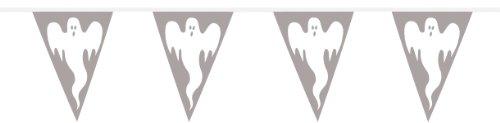 Wimpelkette 10m kleine Geister Gespenst Halloween Deko
