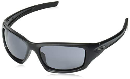 Oakley Men's Valve Rectangular Sunglasses, Matte Black, 60.8 mm