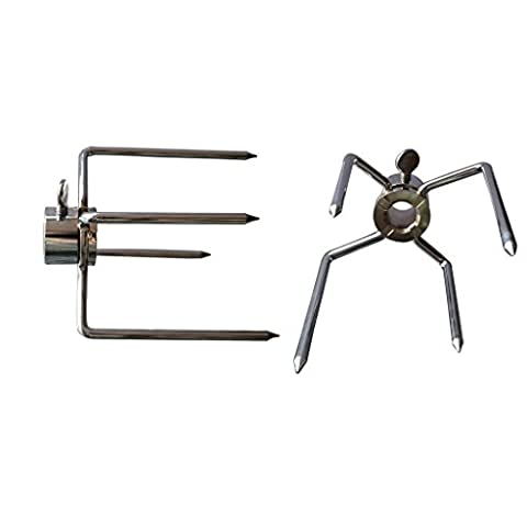 Onlyfire 6003 Grill Heavy Duty Rotisserie Meat Forks, Fits 13MM