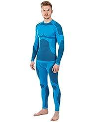Herren Funktionsunterwäsche Thermounterwäsche aus hochwertiger Seamless Mikrofaser - Set Hose und Hemd