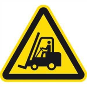 Schild Warnung vor Flurförderzeugen gem. ASR A1.3 / DIN 7010 PVC 20cm (Warnschild, Gabelstapler) praxisbewährt, wetterfest
