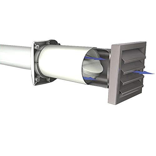 AEROBOY Energiespar Mauerkasten Ø 125/150 mm Edelstahl/Kunststoff Dunstabzug Mauerdurchführung Abzugshaube Wand Endteil Durchbruch Luftauslass Abluft Lüftung (Edelstahl, 150mm)