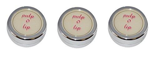 Gloss Hydratant Vanille transparent Pulp O Lip, Lot de 3 + trousse de maquillage offerte ...