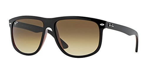 Ray-Ban RB4147 609585 Unisex BLack Frame / Brown Gradient Dark Brown Lens Sunglasses 60mm