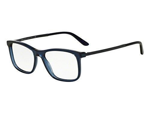 Giorgio Armani Brillen Für Mann 7087 5358, Transparent Blue Gestell aus Metall und Kunststoff, 52mm