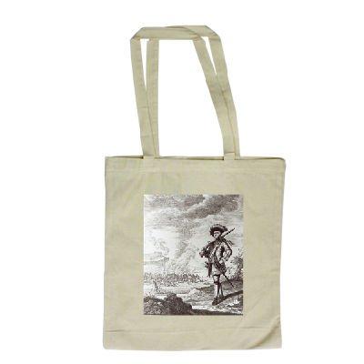 captain-henry-morgan-at-the-sack-of-panama-long-handled-shopping-bag