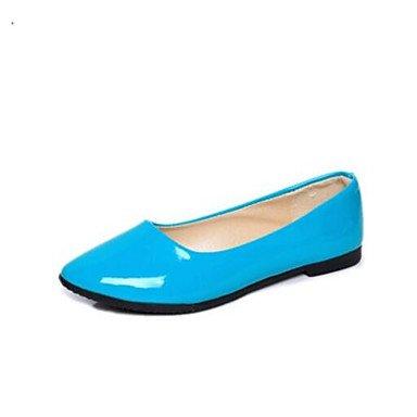Rtry Femmes Flats Confort Tissu Pu Été Informel Confort Bleu Beige Plat Noir Us6.5-7 / Eu37 / Uk4.5-5 / Cn37