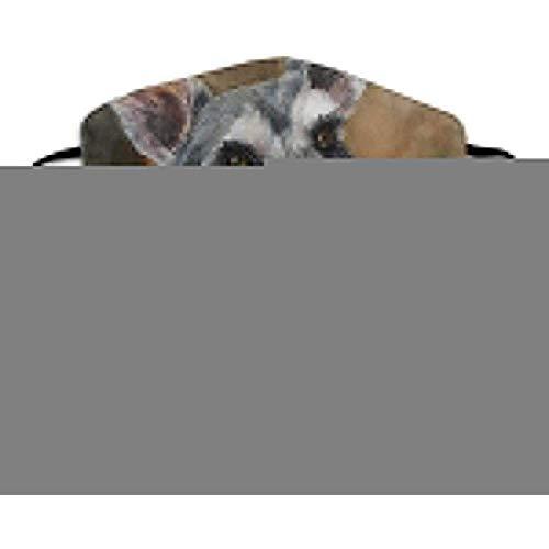 Schnauzer Kunst Malerei Mund Maske Unisex Anti-Staub Maske Atmungsaktiv Wiederverwendbar Für Männer Frauen Outdoor Sport Einstellbare Maske Staub Pollen Grippe Keime -