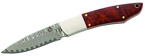 Puma TEC Couteau Damas 67 couches, désert bois, fourreau en cuir ceinture