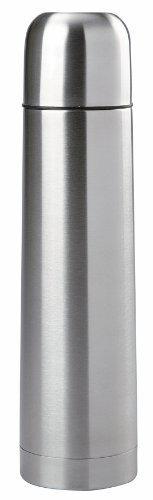 Edelstahl Isolierflasche doppelwandig 1 Liter Thermosflasche Thermoskanne Isolierkanne Thermoflasche mit Druckknopf System 500, 750, 100ml oder 2000ml (1000ml)