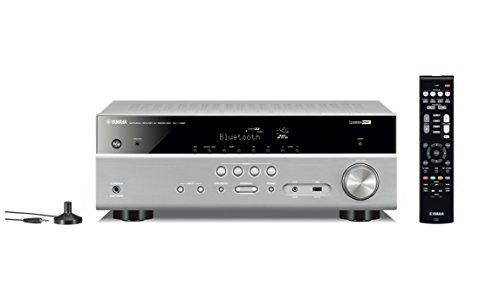 Yamaha AV-Receiver RX-V385 MC titan - Hochwertiger Mehrkanal-Receiver mit kraftvollem 5.1 Surround-Sound - ideal für das eigene Heimkinosystem - Kompatibel mit 4K Ultra HD (Receiver Home Audio)