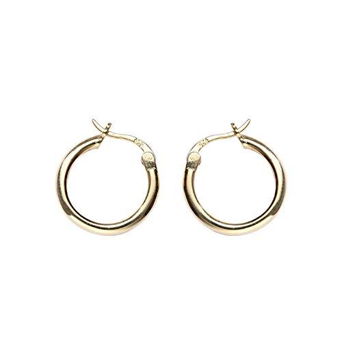 Beydodo 925 Sterling Silber Ohrringe Nickelfrei Kleinen Kreis Rund Gold Creolen Ohrringe Damen - Schmuck Womens Celtic