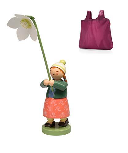 Wendt & Kühn Mädchen mit Christrose 5248/25 + Reisenthel Mini Maxi Shopper -