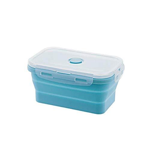 AOLVO Boîtes Hermétiques Rétractables,Récipients Alimentaires en Silicone,Déjeuner Bento Box,sans BPA|Économie d'espace|Étanche à l'air|Four à Micro-Ondes,Réfrigérateur et Lave-Vaisselle,500 ML