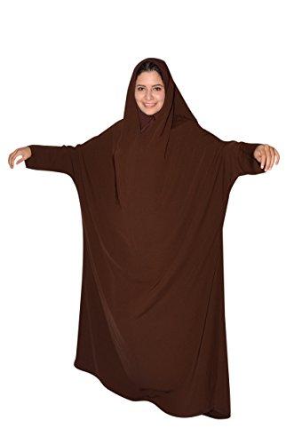 Egypt Bazar Zweiteiliger Isdal mit Kopftuch und Umhang, Islamische Gebetskleidung - Saudi Arabische Kostüm Frauen