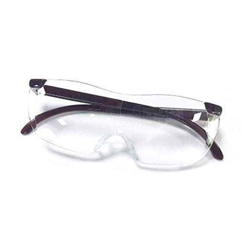 MDD Head-Mounted Magnifying Glass Altmodische tragbare Brille 10X High-Definition-Objektiv,Hellbraun