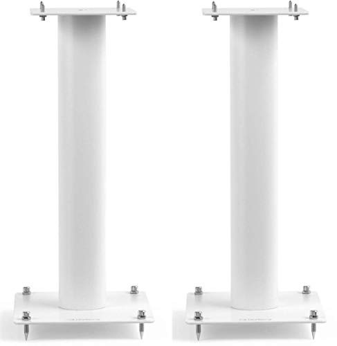 Norstone Lautsprecherständer Stylum, stabil aus Metall, bis 50kg belastbar, Paarpreis (Stylum 1 (50cm), Weiß (matt))