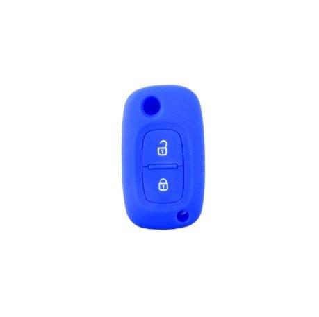 Brightparts® Silikon Schlüsseletui Hülle Etui Schlüssel Cover für Renault mit 2 Tasten Schlüssel (Blau)