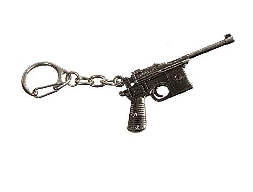 DYD Schlüsselanhänger Pistole Mauser C96 M1916 keychain pistol Mauser C96 (Pistole_MauserC96) (Pistole Mauser)