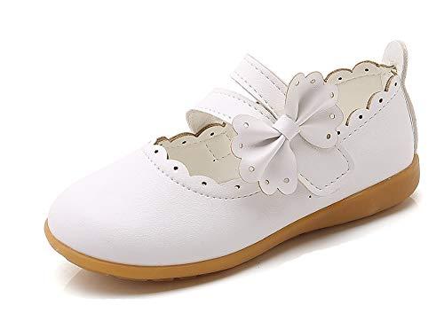 CCZZ Bebe Fille Flat Princess Chaussures Enfants Semelles Souples Mary Jane Ballerine Floral Décor Casual Chaussures en Cuir