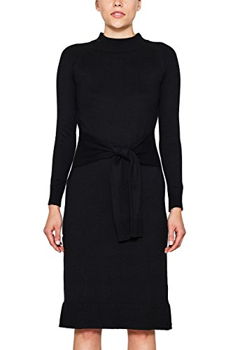 edc by ESPRIT Damen Kleid 107CC1E008, Schwarz (Black 001), Small
