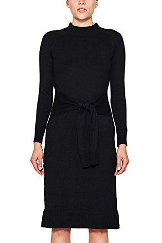 edc by ESPRIT Damen Kleid 107CC1E008 Schwarz (Black 001), Medium