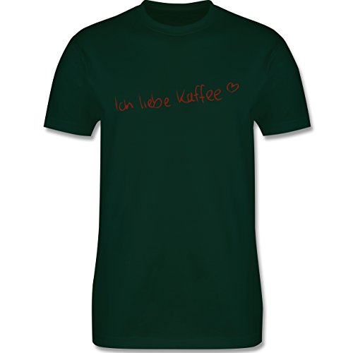 Küche - Ich liebe Kaffee - Herren Premium T-Shirt Dunkelgrün