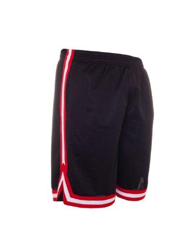 Preisvergleich Produktbild Urban Classics Stripes Mesh Shorts TB243,  color:black / red / white;size:L