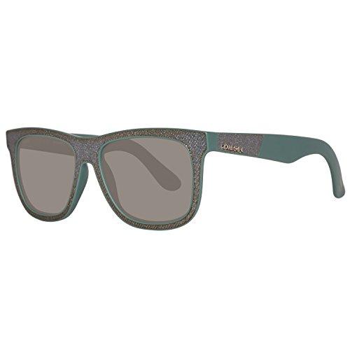 Diesel sonnenbrille dl0161 5409n occhiali da sole, verde (grün), 54 unisex-adulto