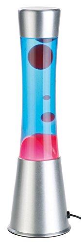 Lampe à lave en verre et aluminium - Rouge / Bleu [Lunartec]