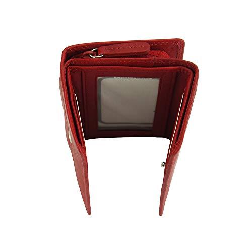PORTAFOGLIO RINA IN VERA PELLE MORBIDA PF060 (Rosso chiaro)
