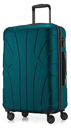 SUITLINE - Hartschalen-Koffer Koffer Trolley Rollkoffer Reisekoffer, TSA, 66 cm, 68 Liter,...